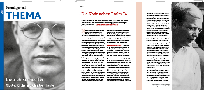 THEMA Magazin Bonhoeffer